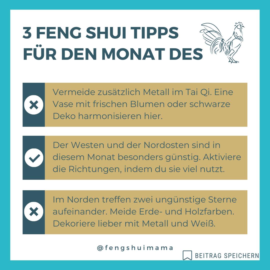 Feng Shui Tipps Hahn 2021